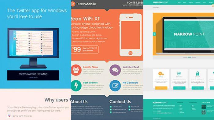 Flat design voorbeelden